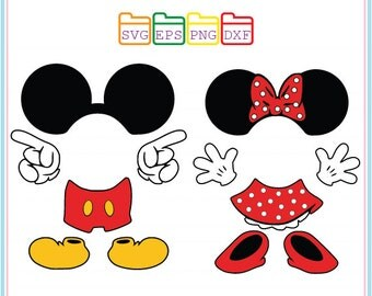 Mickey Mouse Svg and Minnie Mouse Svg,Disney,Svg Dxf Png Eps,Silhouette Studio,Cricut Cameo,Cricut File,Svg Files For Cricut,Silhouete Cameo