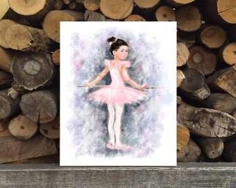 Little Ballerina Print, Printable Art, digital art,  Modern Wall Art, Wall Decor, Digital Download, ballerina print, oil painting imitation