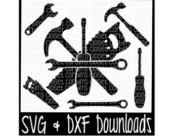 Tools * Saw * Hammer * Screwdriver * Wrench Cutting File - DXF & SVG Files - Silhouette Cameo, Cricut