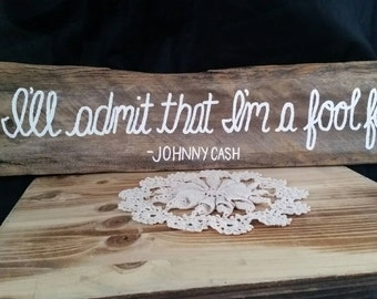 I Walk the Line Sign, Johnny Cash, Reclaimed Wood, Wood Sign, Johnny Cash Decor, Home Decor, Wall Hanging, Christmas Gift