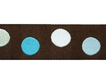 Brown and Blue Dot Jacquard (04-112-PD-048)