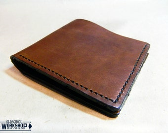 Classic bifold leather wallet handmade