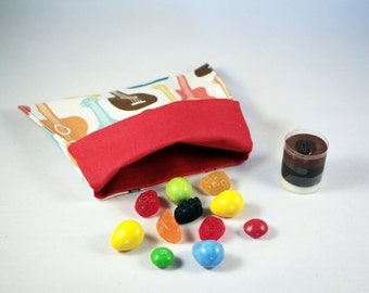 100% organic cotton | Reusable snack bag | self closed | eco-friendly snack pouch
