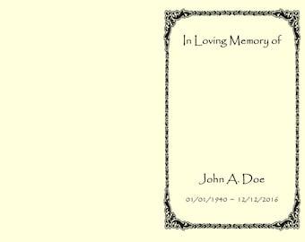 Memorial Program- Digital File