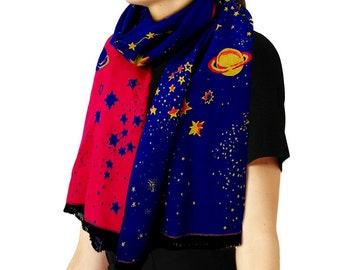 Galaxy Double-Sided Shawl