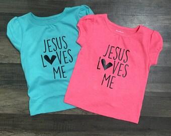 Jesus Loves Me Tshirt kids