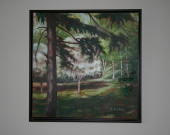 Landscape Painting of Trees