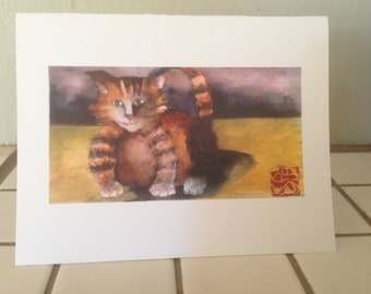 Set of 5 Cat Greeting Cards
