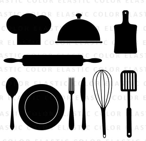 Restaurant Kitchen Utensils kitchen svg - kitchen utensils clipart - restaurant clip art