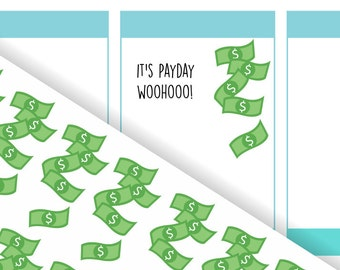 Raining Money Payday / Income Stickers | For your planner, scrapbook, agenda, calendar | D13