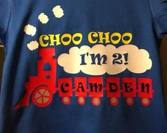 Choo choo birthday shirt