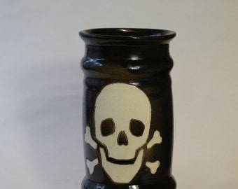 Bierkrug, Beer Mug, Beer Stein, Handmade,Ceramic mug,Skull,Beer Mug,Sculpted Relief Decoration,Horror mug,Tableware,Handmade Skulls Beer Mug