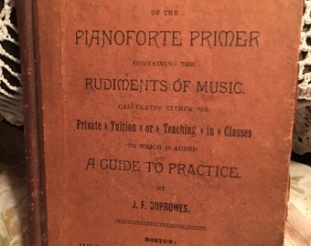 Pianoforte Primer Containing The Rudiments Of Music by JF Borrwes