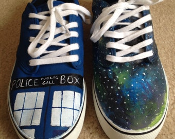 Doctor Who Shoes - Tardis/Galaxy