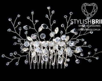 Wedding Crystal Hair Comb, Bridal Hair Comb, Crystal  Wedding Hair Comb, Crystal Hair Accessories, Bridal Crystal Comb, Bridal Hairpiece