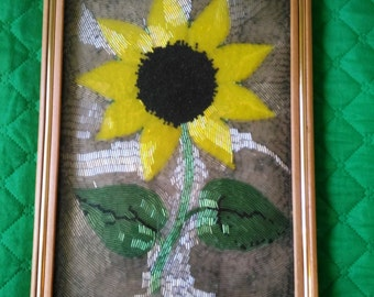 Sunflower Beaded Wall Art Decoration Picture