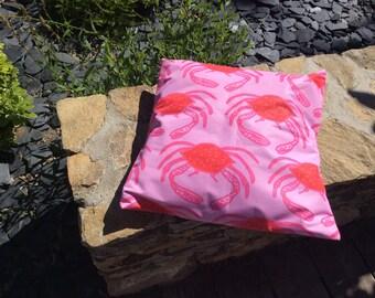 Outdoor cushion. Pillows to garden or beach. Crab 2
