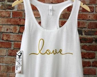 Love Tank Top. Racerback Tank Top. Love Tee. Workout Shirt. Exercise Shirt. Fitness Shirt. Bride Tank. Bride Tee. Birthday Gift