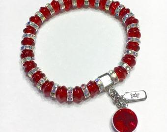 July Birthstone Bracelet - Charm Bracelet