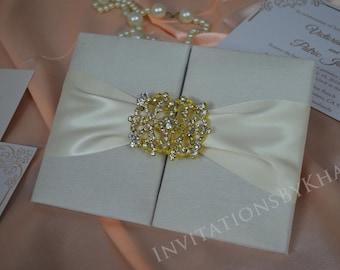 Silk Wedding Invitation Folio Luxury Wedding Invitation Folio