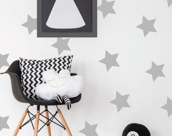Large stars wall decal / golden stars home decor / Stars nursery decor / Pink Blue Grey Yellow Black Gold Stars Vinyl Sticker / wallpaper