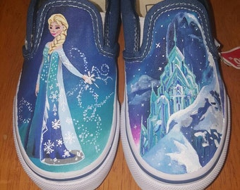 Elsa and the Ice Castle frozen shoes
