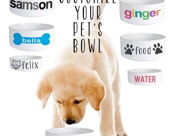 Custom Dog Bowl, Custom Cat Bowl, Custom Pet Bowl, Custom Dog Food Bowl, Custom Cat Food Bowl, Personalized Pet Bowl, Personalized Dog Cat