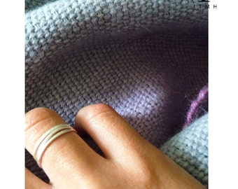 Made-to-order- Single/Multiple Sterling Silver Dainty Loops Rings-One size-Simple & Classic Rings-low cost shipping