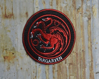 Targaryen Game Dragon Fantasy Iron On Sew On Patch Transfer