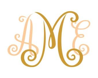 Monogram Font Svg,  Cricut Fonts, Svg Fonts letters, svg alphabet font pack svg, eps, dxf