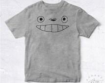 NEW Tee Shirt Totoro Face BIO HANDMADE Cartoon Manga Japan Hayao Miyazaki Mon Voisin Cute Dessin Merveilleux Mignon Japon Asie Asia Cool