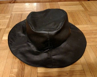 Black Honyock Leather Rain Hat