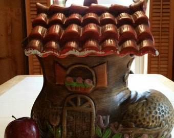Large ceramic Old woman who lived in a shoe cookie jar