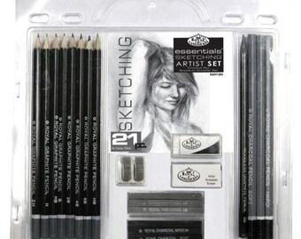 21 Piece Sketch Drawing Pencil Set Sketching Art Royal Langnickel Art Supplies