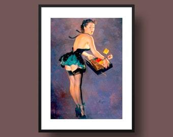 Vintage Pin-Up Poster Print - 'Parting Company' by Gil Elvgren
