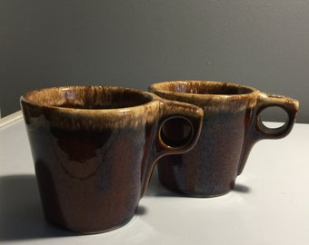 Earthy and Rstic...........A Great Pair of Vintage Hull Mugs