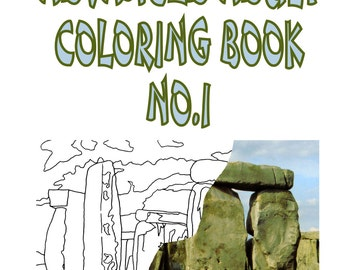 """Adult Coloring Book - High End - Photos 1 - 37 Plates - 8.5"""" X 11"""" - Coil Bound - Laminated Covers - Hand Drawn"""