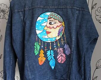 Western Hand-painted Denim Jacket