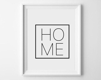 HOME - Simple typography print - various sizes available