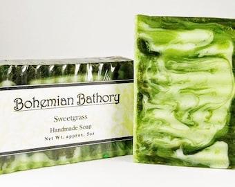Sweetgrass Soap, Handmade Soap, Glycerin Soap