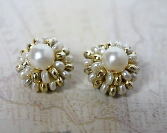 "Vintage Earrings (clip-on) - ""Doris"""