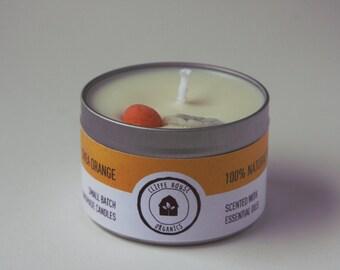 Shea Orange Natural Soy Wax Candle