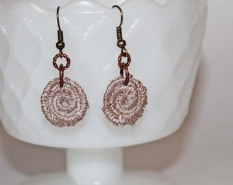 Upcycled Lace Earrings