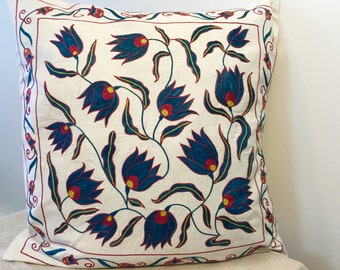 Uzbek suzani pillow cover # 14