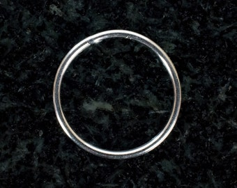 16mm Sterling Silver 18ga CLOSED Jump Rings, Made in India
