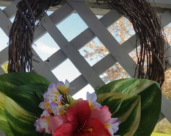 Tropical Wooden Wreath
