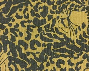 Vintage Cheetah print Scarf, rectangle