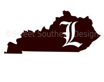 Kentucky Louisville Cardinals L SVG instant download design for cricut or silhouette