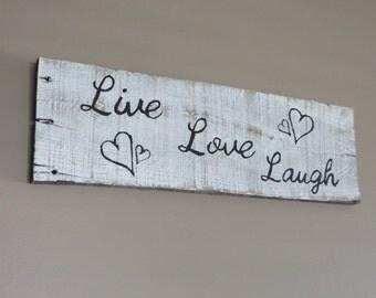 Live Love Laugh Pallet wood sign