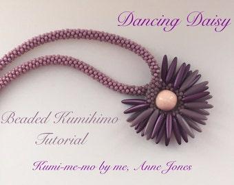 Dancing Daisy Beaded Kumihimo Tutorial